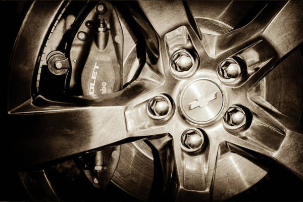 Photograph - 2011 Chevrolet Camaro Indianapolis 500 Pace Car Wheel -0317s by Jill Reger
