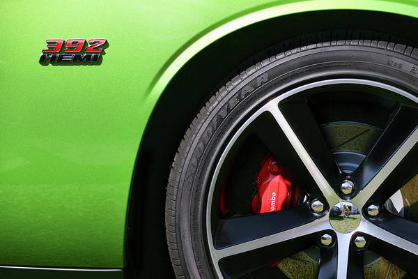 Wall Art - Photograph - 2011 Dodge Challenger Srt8 392 Hemi Green With Envy by Gordon Dean II