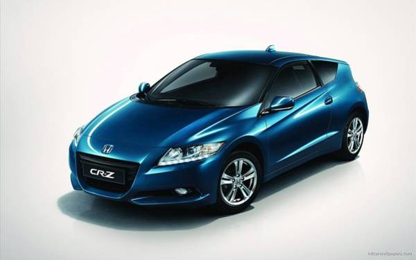 Wall Art - Digital Art - 2011 Honda Cr Z Sport Hybrid Coupe 2 by Mery Moon