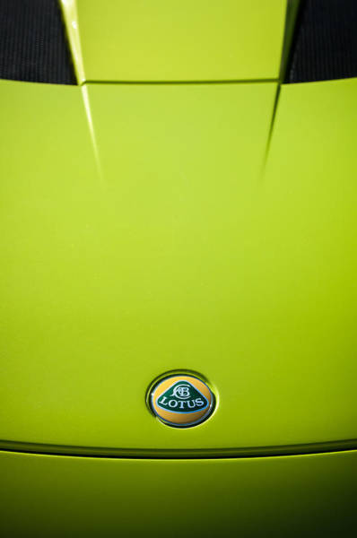 Photograph - 2011 Lotus Evora S Hood Emblem -0592c by Jill Reger