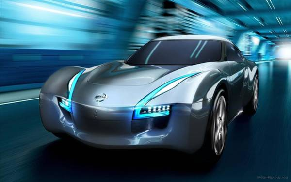 Nissan Digital Art - 2011 Nissan Electric Sports Concept Car by Mery Moon