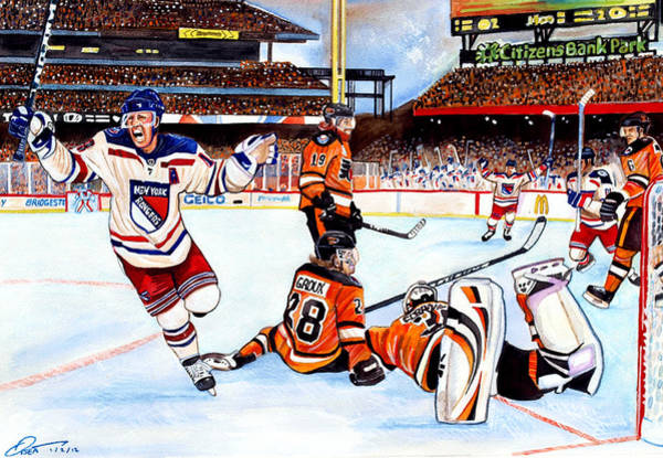 Citizens Bank Park Wall Art - Painting - 2012 Bridgestone-nhl Winter Classic by Dave Olsen