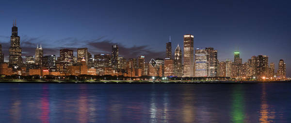 Midwest Photograph - 2012 Chicago Skyline by Donald Schwartz