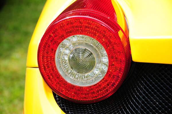 458 Photograph - 2012 Ferrari 458 Spider Brake Light by Paul Ward