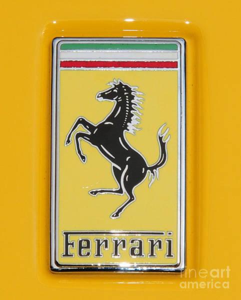 458 Photograph - 2012 Ferrari Hood Emblem by Paul Ward
