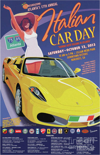 2013 Atlanta Italian Car Day Poster Art Print