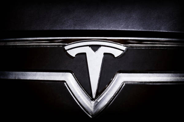 Photograph - 2013 Tesla Model S Emblem -0122ac1 by Jill Reger