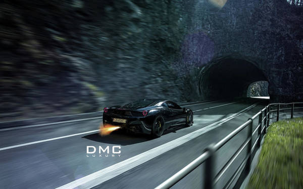 458 Digital Art - 2014 Dmc Ferrari 458 Italia Elegante 3 Wide by F S