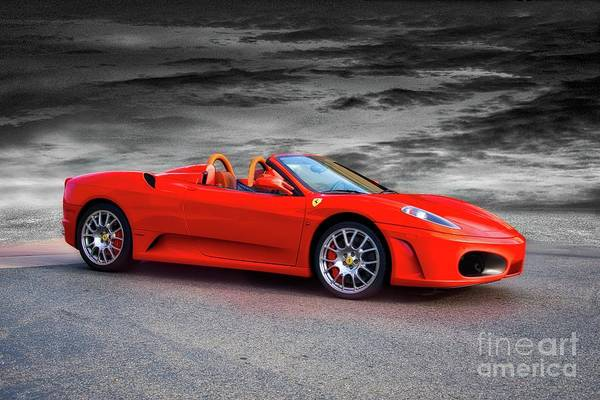Wall Art - Photograph - 2014 Ferrari F430 Spider Hdr by Dave Koontz