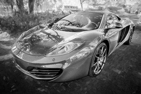 Photograph - 2014 Mclaren Mp4 12c Spider Bw C195 by Rich Franco