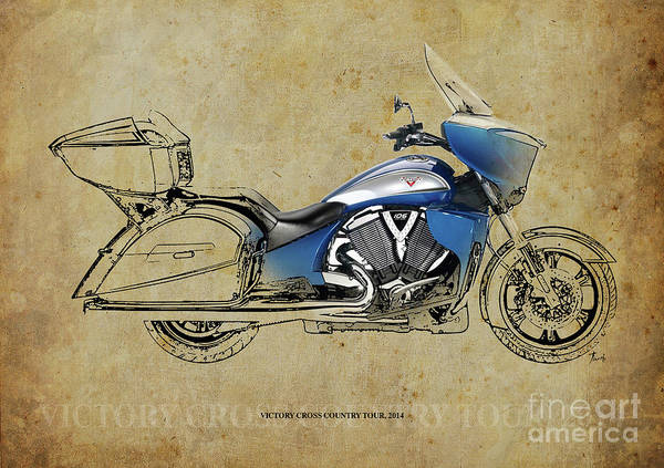 Man Cave Drawing - 2014 Victory Cross Country Tour Christmas Gift by Drawspots Illustrations