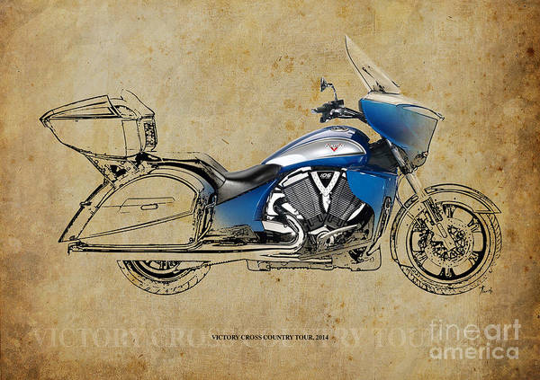 Wall Art - Drawing - 2014 Victory Cross Country Tour by Drawspots Illustrations