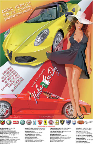 2015 Atlanta Italian Car Day Poster Art Print