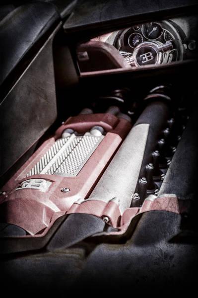 Photograph - 2015 Bugatti Veyron Legend Engine -0460ac by Jill Reger