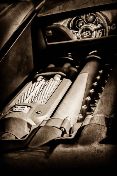 Photograph - 2015 Bugatti Veyron Legend Engine -0460s by Jill Reger