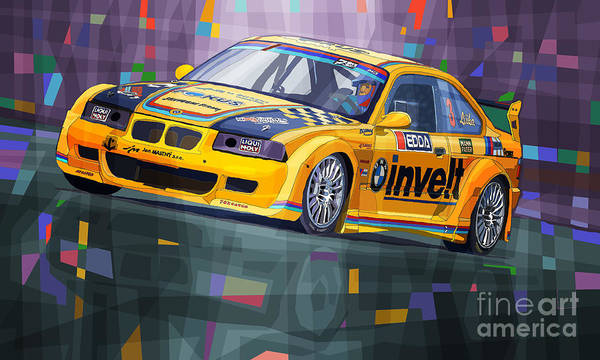 Cup Digital Art - 2015 Edda Cup Jested Bmw M3 E36 Liska by Yuriy Shevchuk