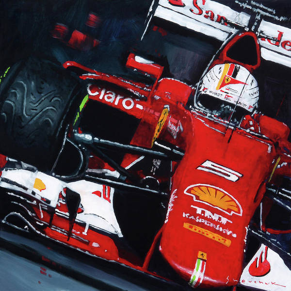 Wall Art - Painting - 2015 F1 Ferrari Sf15-t Vettel by Yuriy Shevchuk