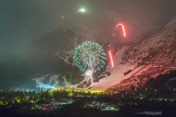 Wall Art - Photograph - 2015 Fireworks At Alyeska by Tim Grams
