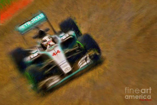 Photograph - 2015 Lewis Hamilton Mercedes Face On by Blake Richards