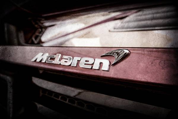 Photograph - 2015 Mclaren 650s Spider Rear Emblem -0028ac by Jill Reger