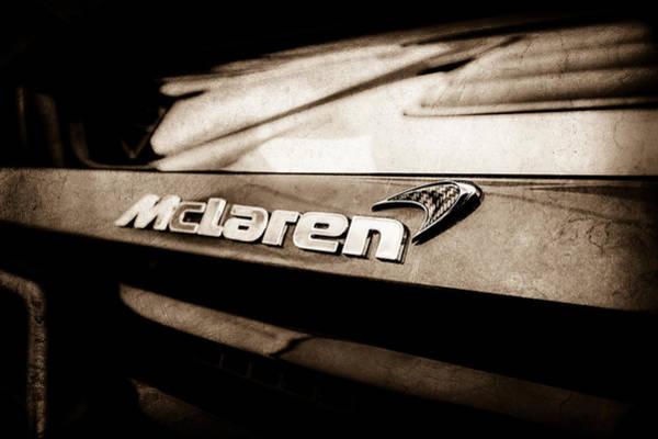 Photograph - 2015 Mclaren 650s Spider Rear Emblem -0028s by Jill Reger