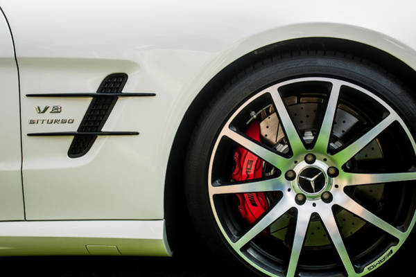 Photograph - 2015 Mercedes-benz Sl63 Amg Roadster Wheel Emblem -0653c by Jill Reger