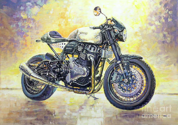 Wall Art - Painting - 2015 Norton Dominator  by Yuriy Shevchuk