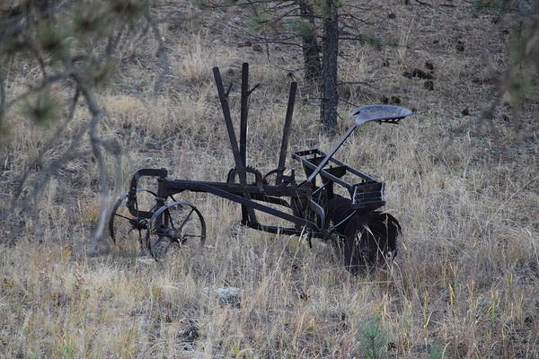 Photograph - Old Farm Implement Lake George Co by Margarethe Binkley
