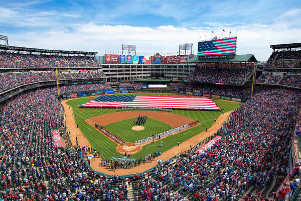 Photograph - 2015 Texas Rangers Home Opener by Mark Whitt