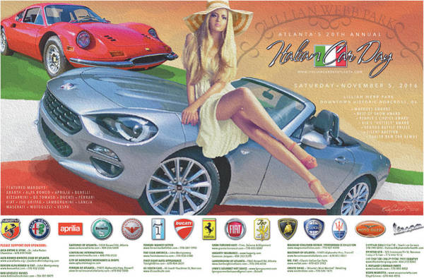 2016 Atlanta Italian Car Day Poster Art Print