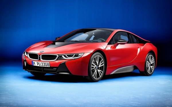 Wall Art - Digital Art - 2016 Bmw I8 Protonic Red Edition  by Mery Moon