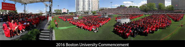 Photograph - 2016 Boston University Commencement by Juergen Roth