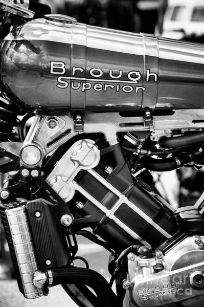 Photograph - 2016 Brough Superior Ss100 Monochrome by Tim Gainey