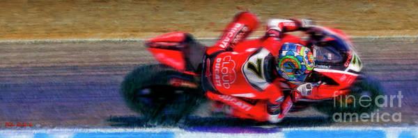 Photograph - 2016 Fim Superbike Chaz Davies by Blake Richards
