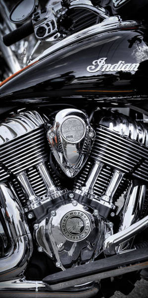 Photograph - 2016 Indian Springfield - 75th Daytona Bike Week by David Patterson