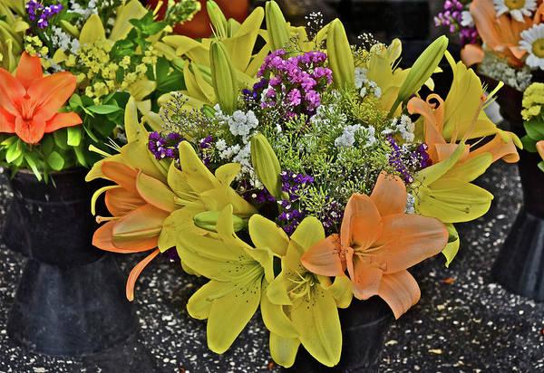 Photograph - 2016 Monona Farmers Market Bouquet 1 by Janis Nussbaum Senungetuk