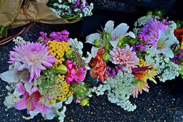 Photograph - 2016 Monona Farmers' Market Bouquets 3 by Janis Nussbaum Senungetuk