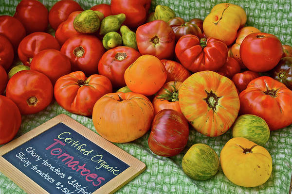 Photograph - 2016 Monona Farmers' Market Heirloom Tomatoes by Janis Nussbaum Senungetuk