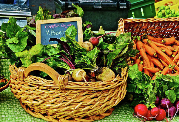 Photograph - 2016 Monona Farmers' Market Organic Beets by Janis Nussbaum Senungetuk