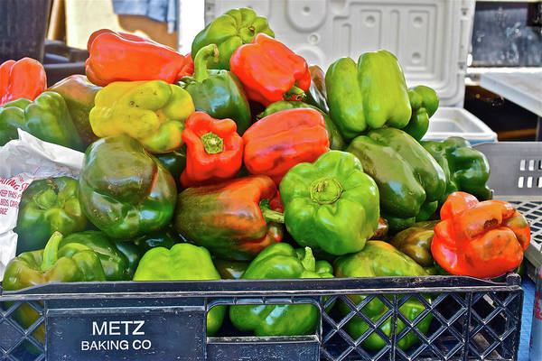 Photograph - 2016 Monona Farmers' Market Organic Bell Peppers by Janis Nussbaum Senungetuk