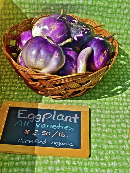 Photograph - 2016 Monona Farmers' Market Organic Eggplant by Janis Nussbaum Senungetuk