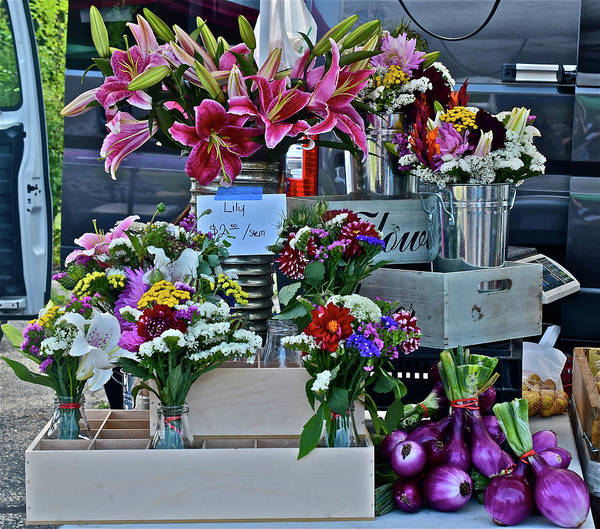 Photograph - 2016 Monona Farmers' Market Vendor's Display by Janis Nussbaum Senungetuk