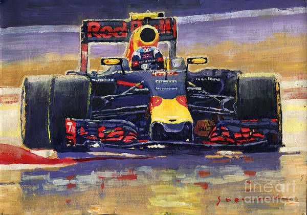 Wall Art - Painting - 2016 Spain Gp Max Verstappen Red Bull-renault Winner by Yuriy Shevchuk