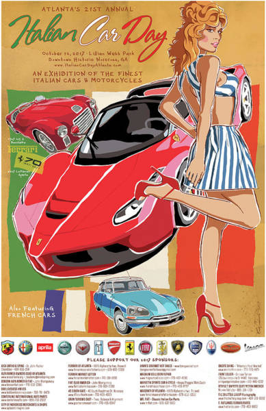 2017 Atlanta Italian Car Day Poster Art Print