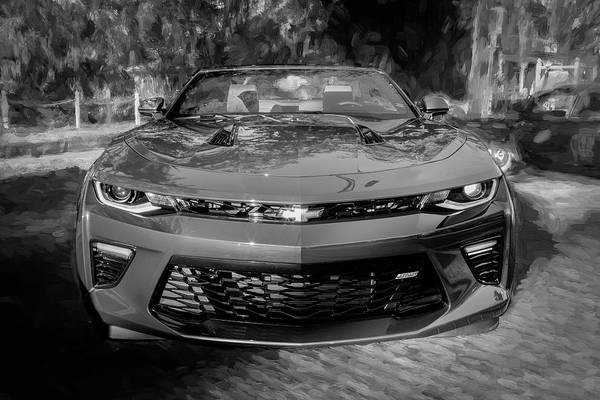 Photograph - 2017 Chevrolet Camaro Ss2 Convertible Bw C181 by Rich Franco