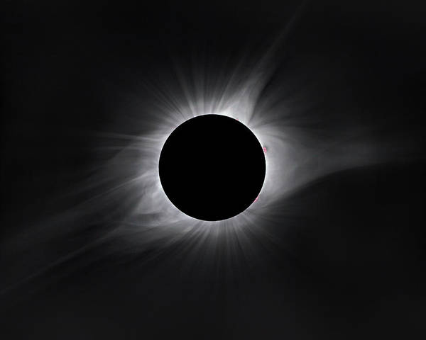 Sun Photograph - 2017 Eclipse Totality by Dennis Sprinkle