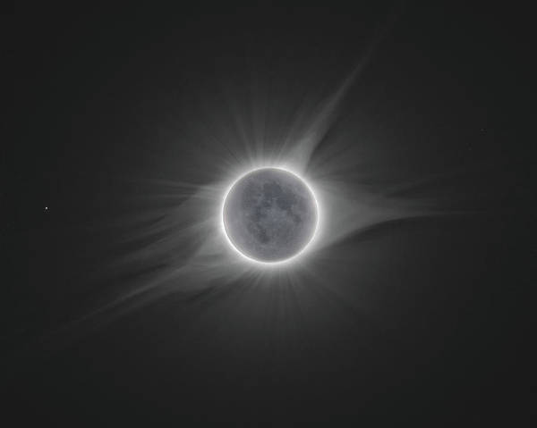 Moon Shine Wall Art - Photograph - 2017 Eclipse With Earth Shine by Dennis Sprinkle