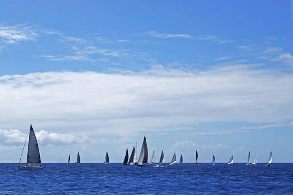 Photograph - 2017 Heineken Regatta Sailing Past Saba Saint Martin Sint Maarten Starting Line by Toby McGuire