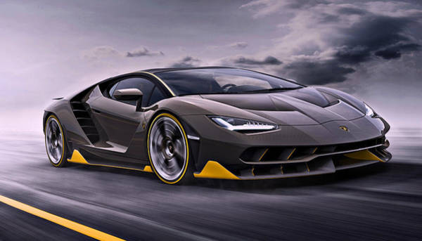 Photograph - 2017 Lamborghini Centenario by Movie Poster Prints