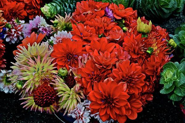 2017 Mid October Monona Farmers' Market Buckets Of Blossoms 1 Art Print